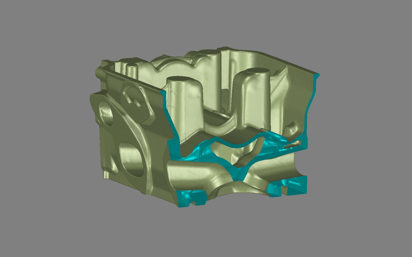 Conap 3D Reverse Engineering - Zylinderkopf auf dem Messtisch