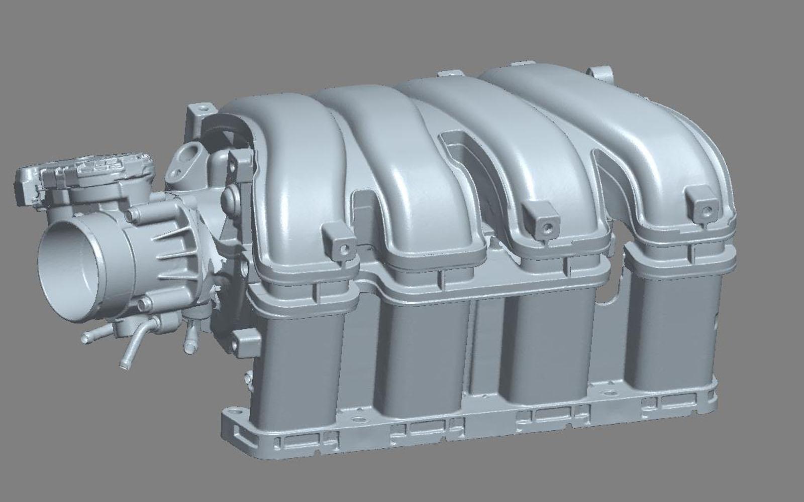 Conap 3D Reverse Engineering - Scan eines Saugsystems für einen Ottomotor