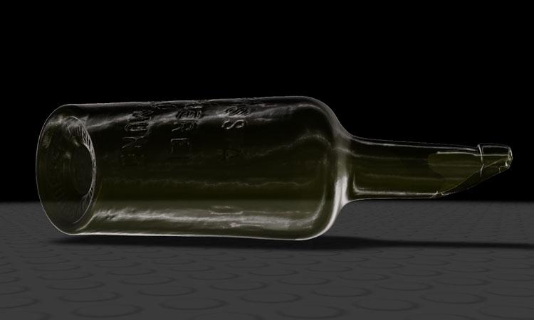Conap 3D CAD Services - Gerendertes CAD Modell einer historischen Borussia Bierflasche