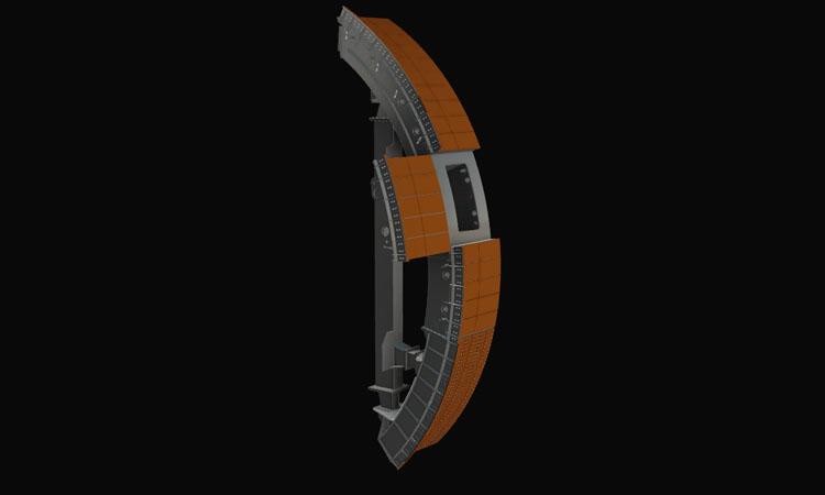 Conap 3D CAD Services - Gerendertes CAD Modell einer Ringschurre