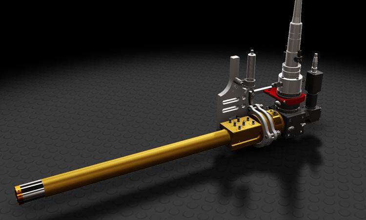 Conap 3D CAD Services - Gerendertes CAD Modell einer Laserlanze