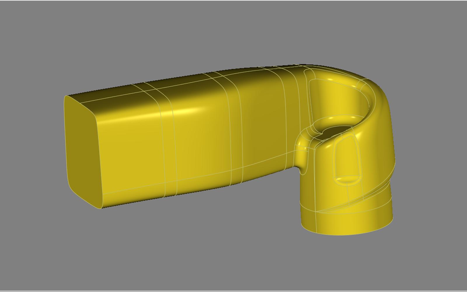 Conap 3D Qualitätskontrolle - Einlasskanal auf dem Messtisch