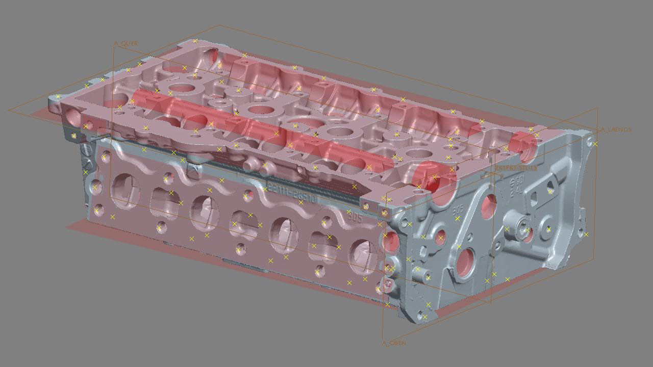 Conap 3D Reverse Engineering - Scan eines Zylinderkopfes