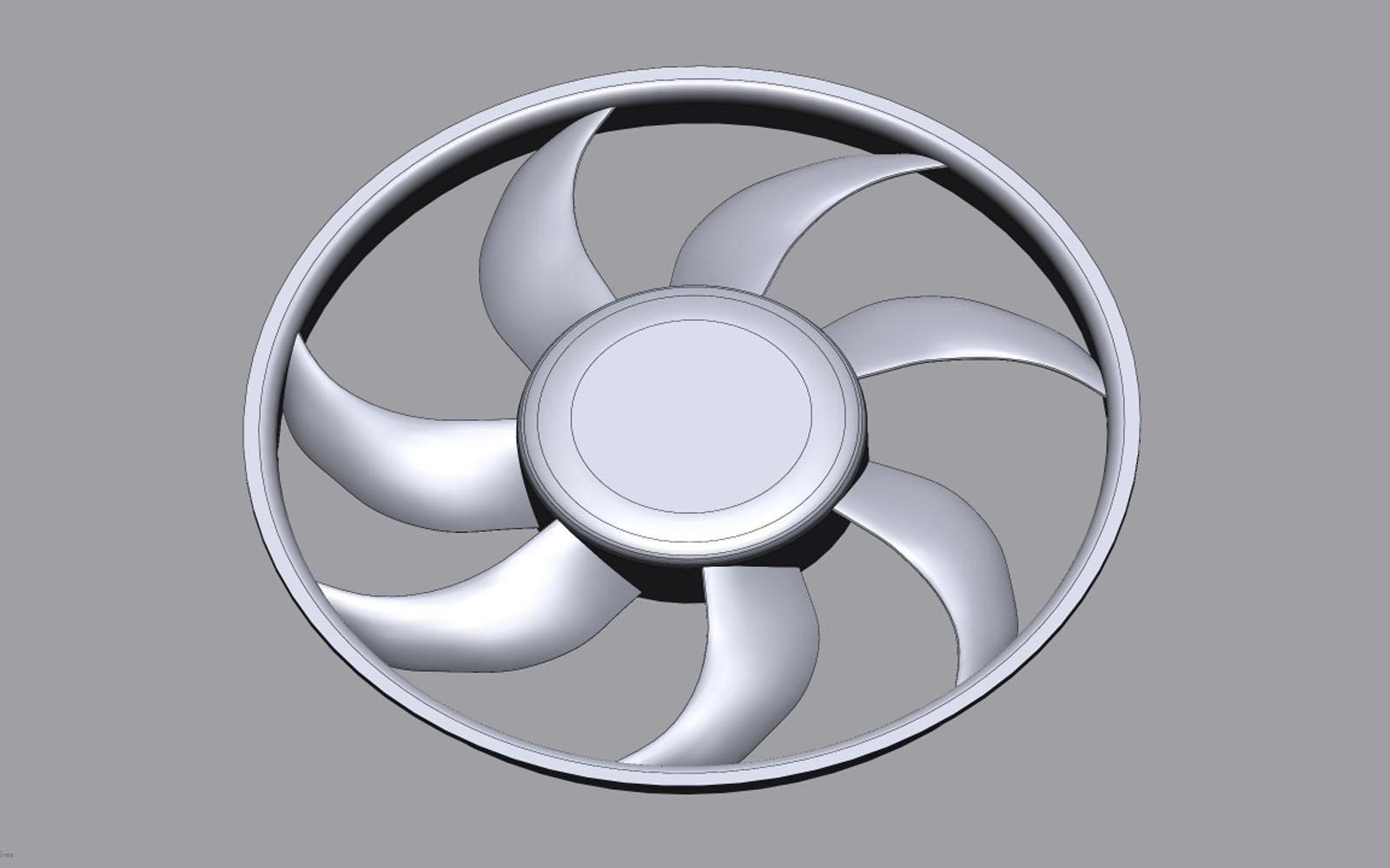 Conap 3D Reverse Engineering - Polygonflächenmodell eines Lüfterrades
