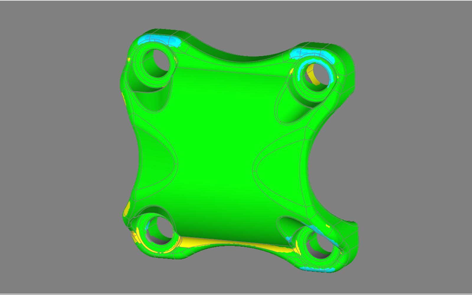 Conap 3D Reverse Engineering - Fahrradvorbau auf dem Messtisch