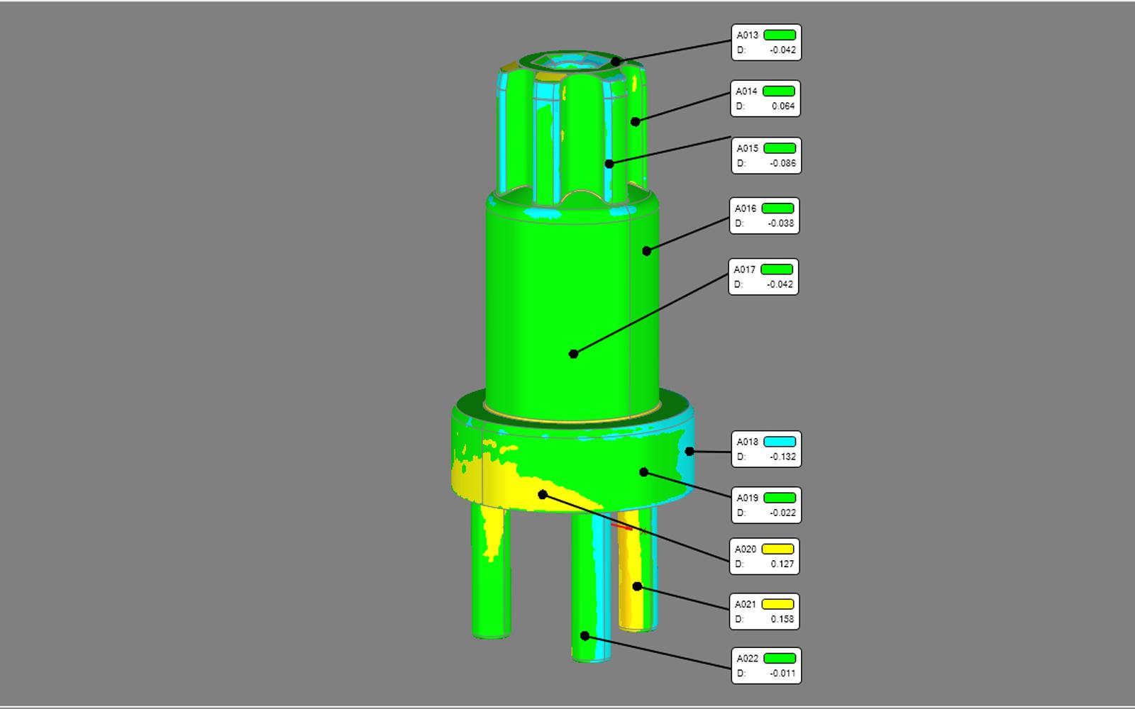 Conap 3D Reverse Engineering - Welle auf dem Messtisch