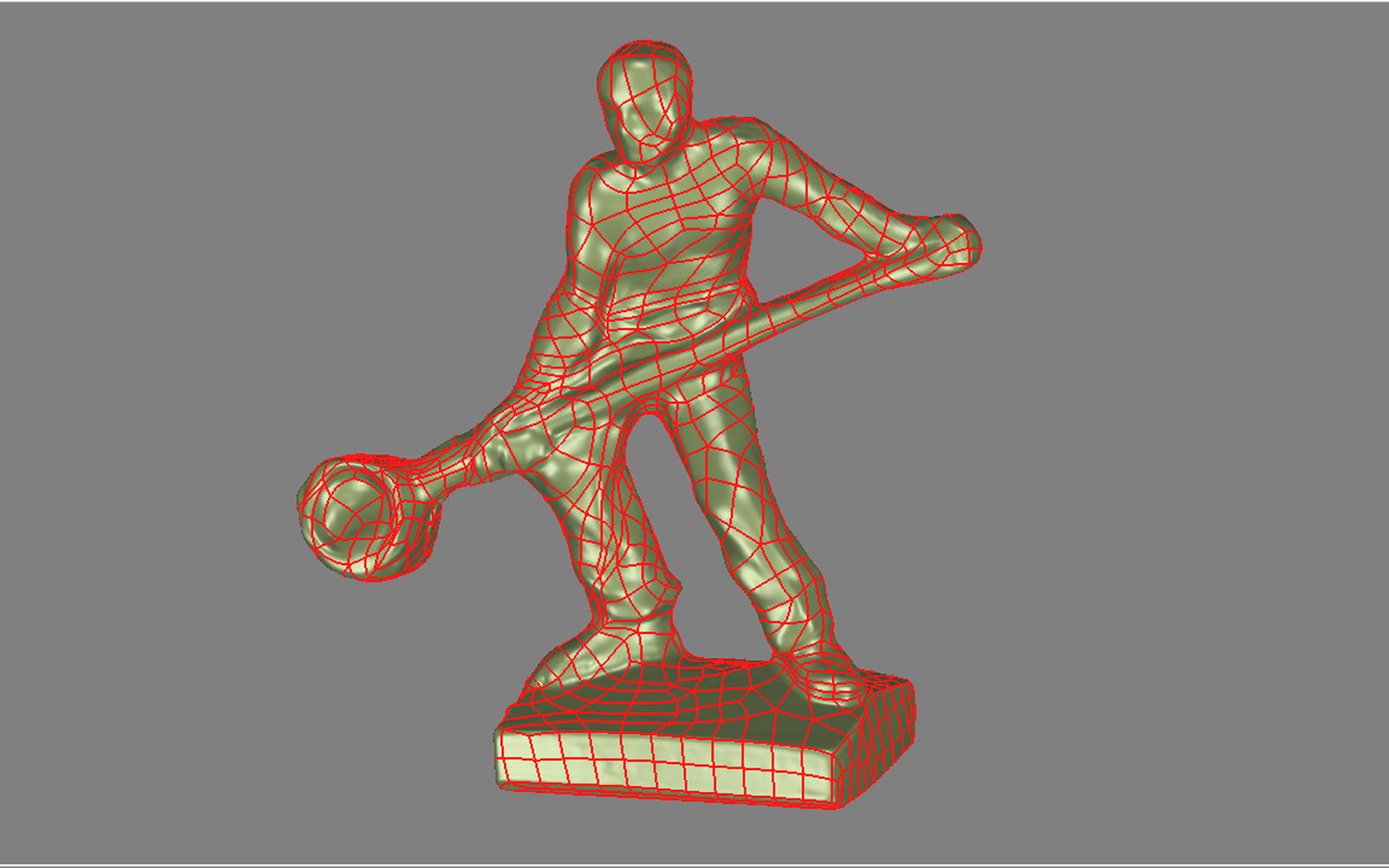 Conap 3D Reverse Engineering - Modellfigur eines Gießers auf dem Messtisch