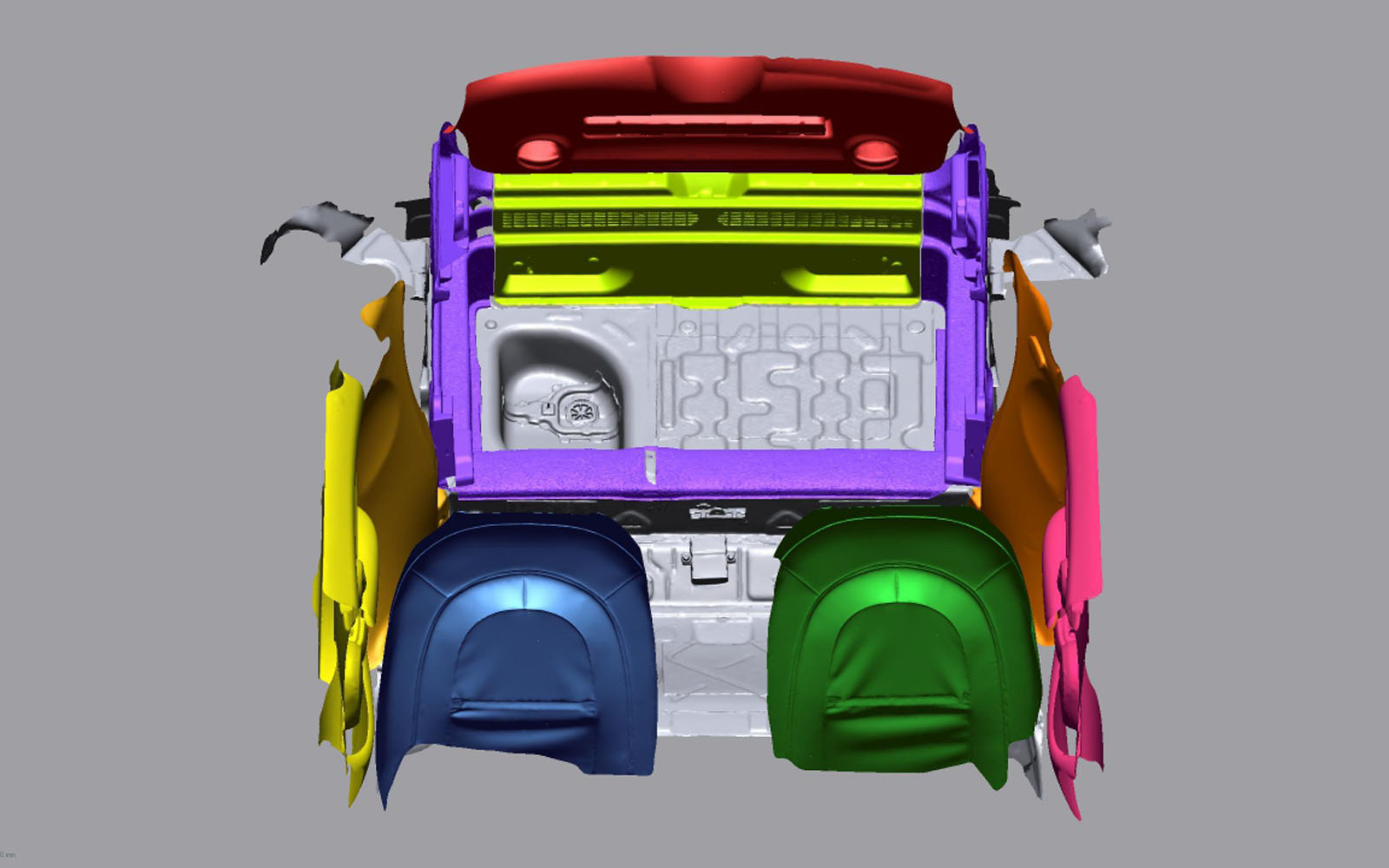 Conap 3D Reverse Engineering - 3D Scan eines PKWs