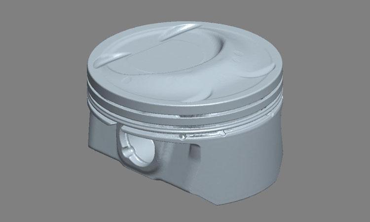 Conap 3D Reverse Engineering - Polygonflächenmodell eines PKW Kolbens