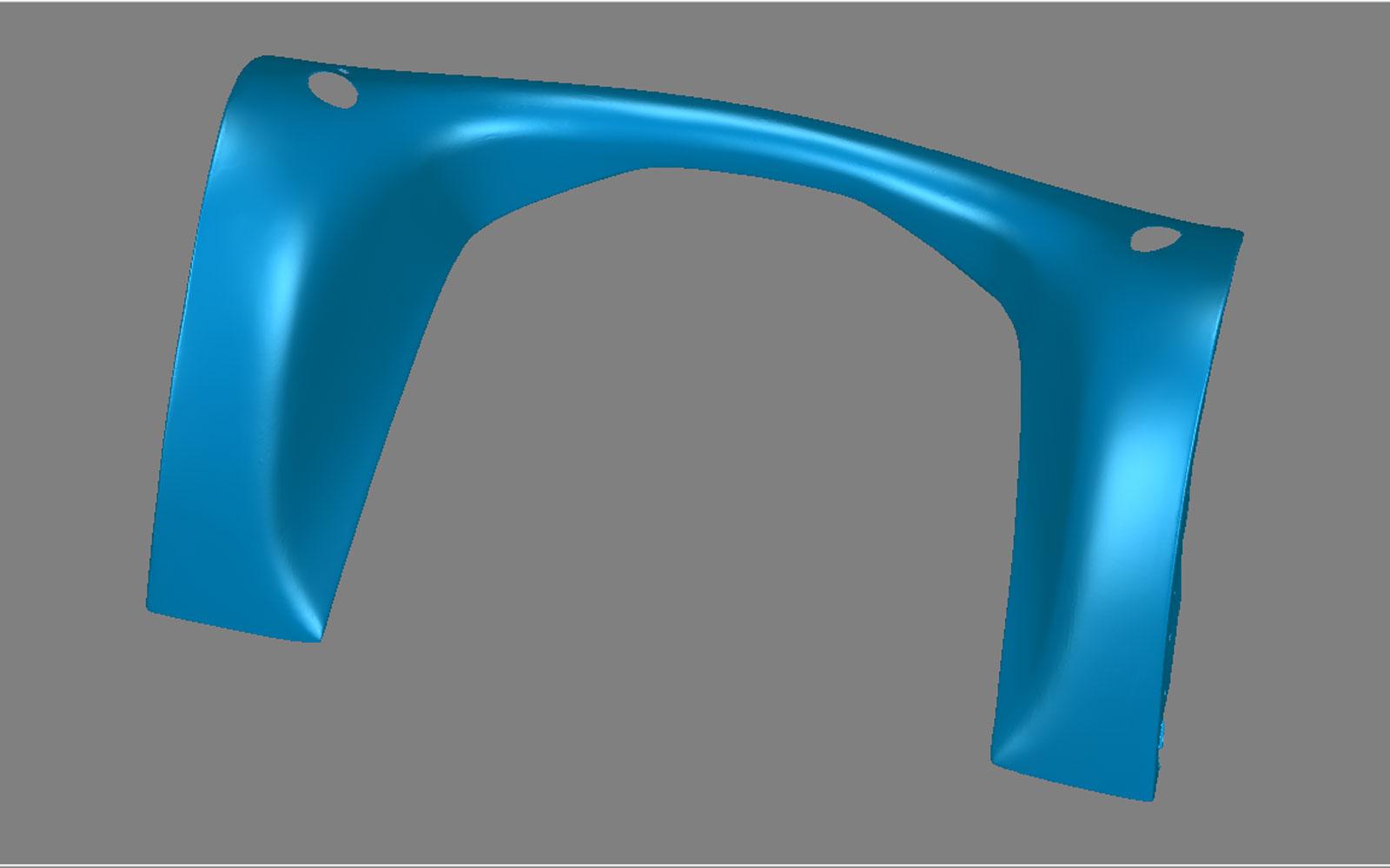 Conap 3D Reverse Engineering - Kotflügel eines Oldtimers auf dem Messtisch