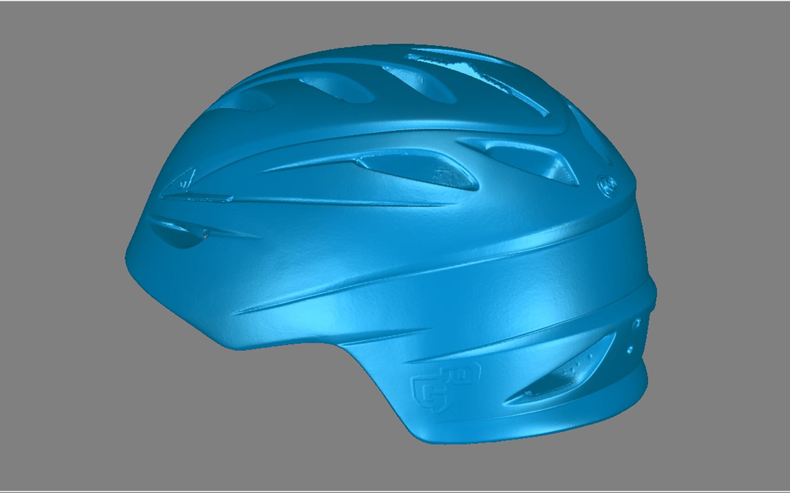 Conap 3D Reverse Engineering - Skihelm während des 3D Scan