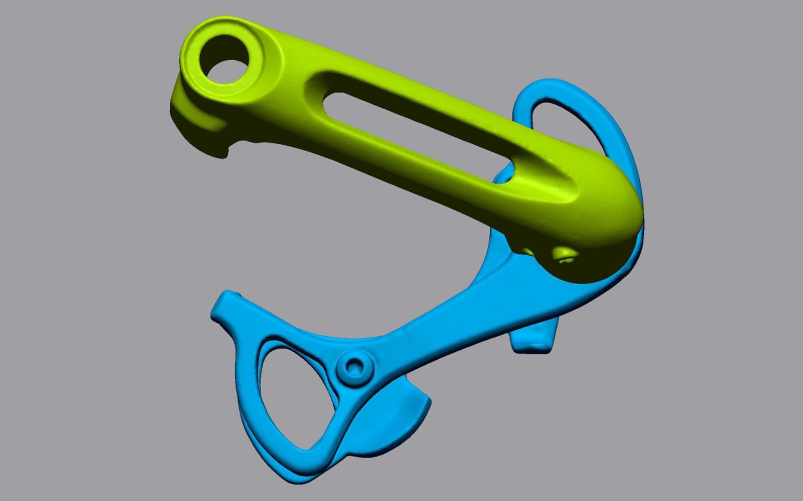 Conap 3D Reverse Engineering - STL Daten Modell eines Kettenspanners von Shimano