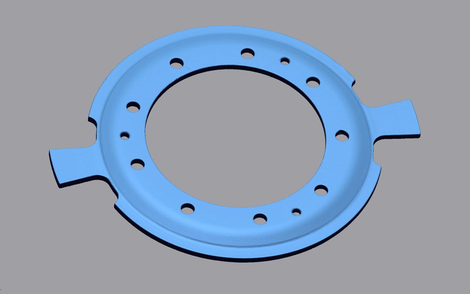 Conap 3D Reverse Engineering - Polygonflächenmodell eines Kupplungsrings
