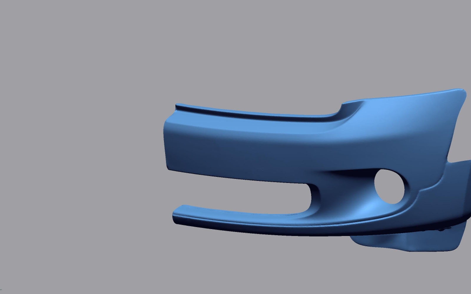Conap 3D Reverse Engineering - Polygonflächenmodell eine Stoßfängerverkleidung