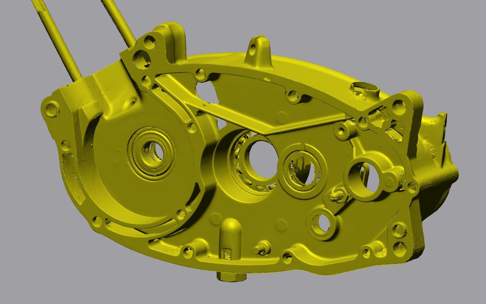 Conap 3D Reverse Engineering - Polygonflächenmodell eines Kurbelgehäuses