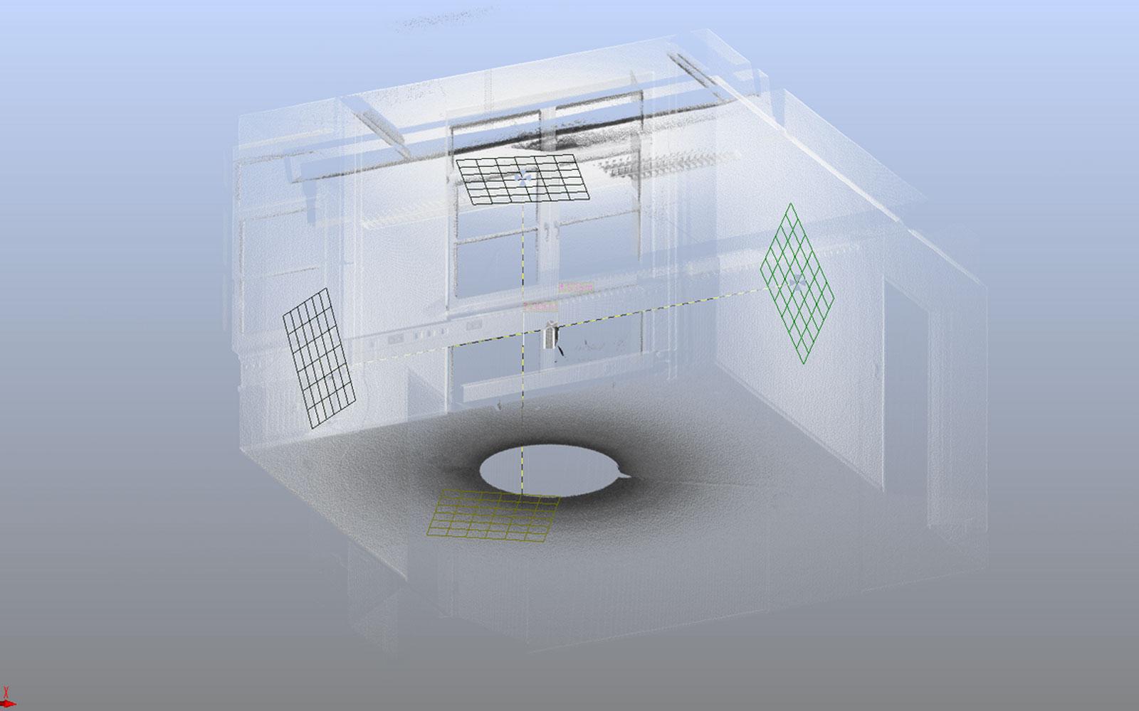 Conap 3D Scanning Services - 360 Grad Scan eines Büroraumes