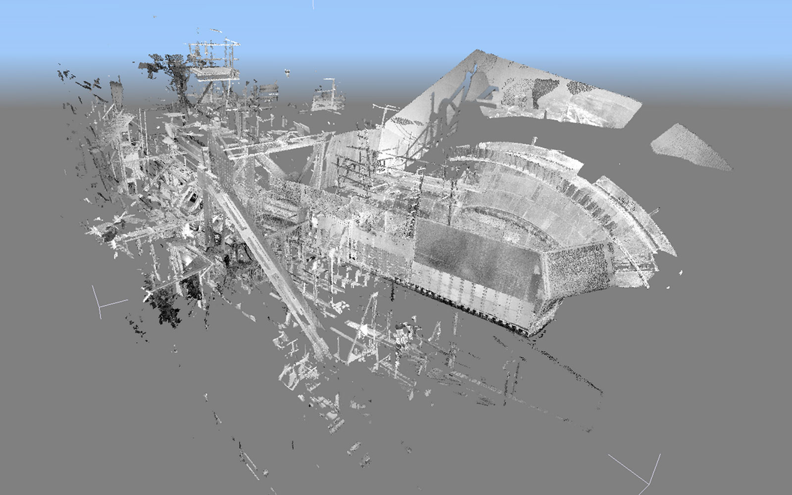 Conap 3D Scanning Services - Band eines Schaufelradbaggers