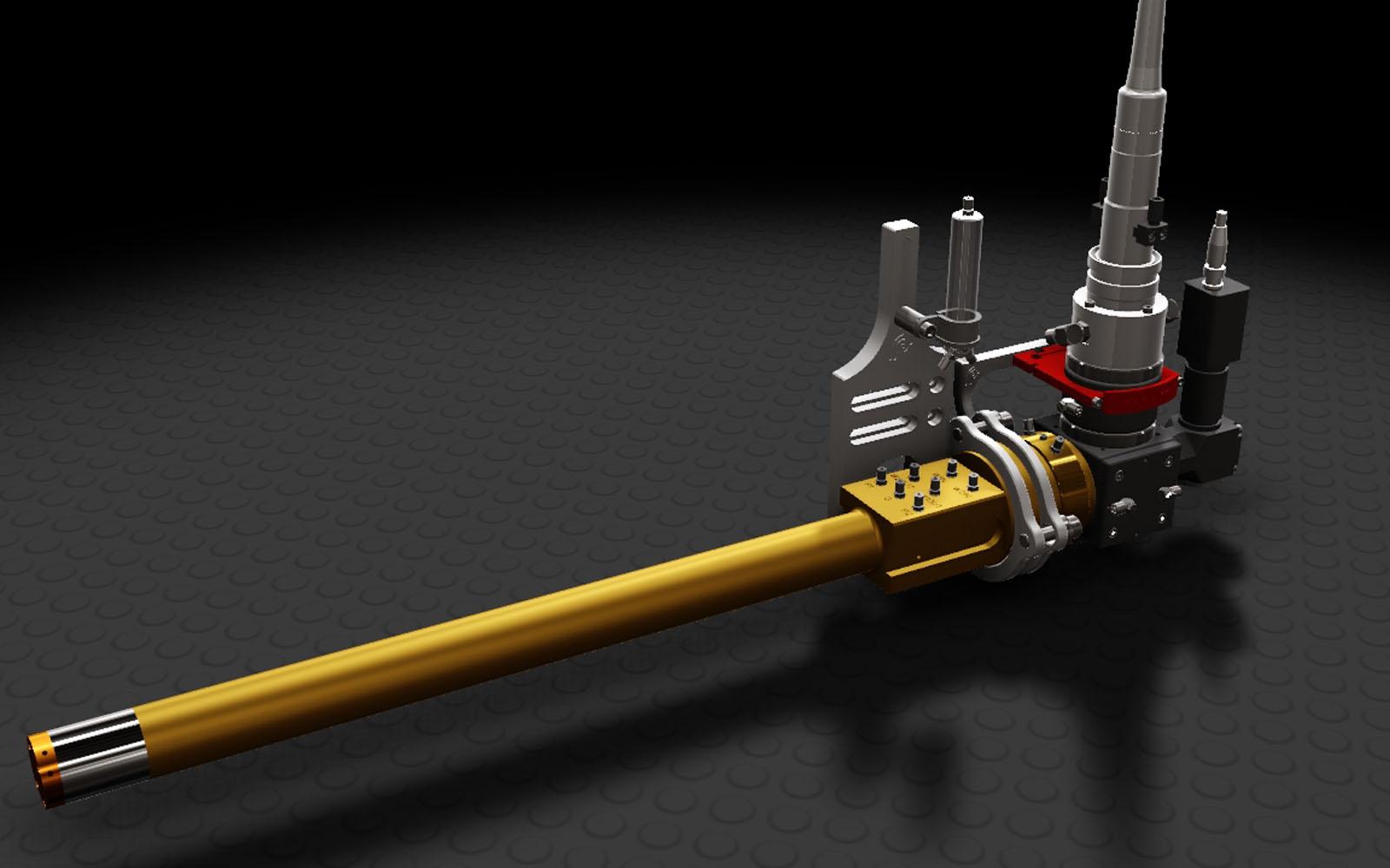 Conap CAD Konstruktionsbüro - CAD Modell einer Laserlanze