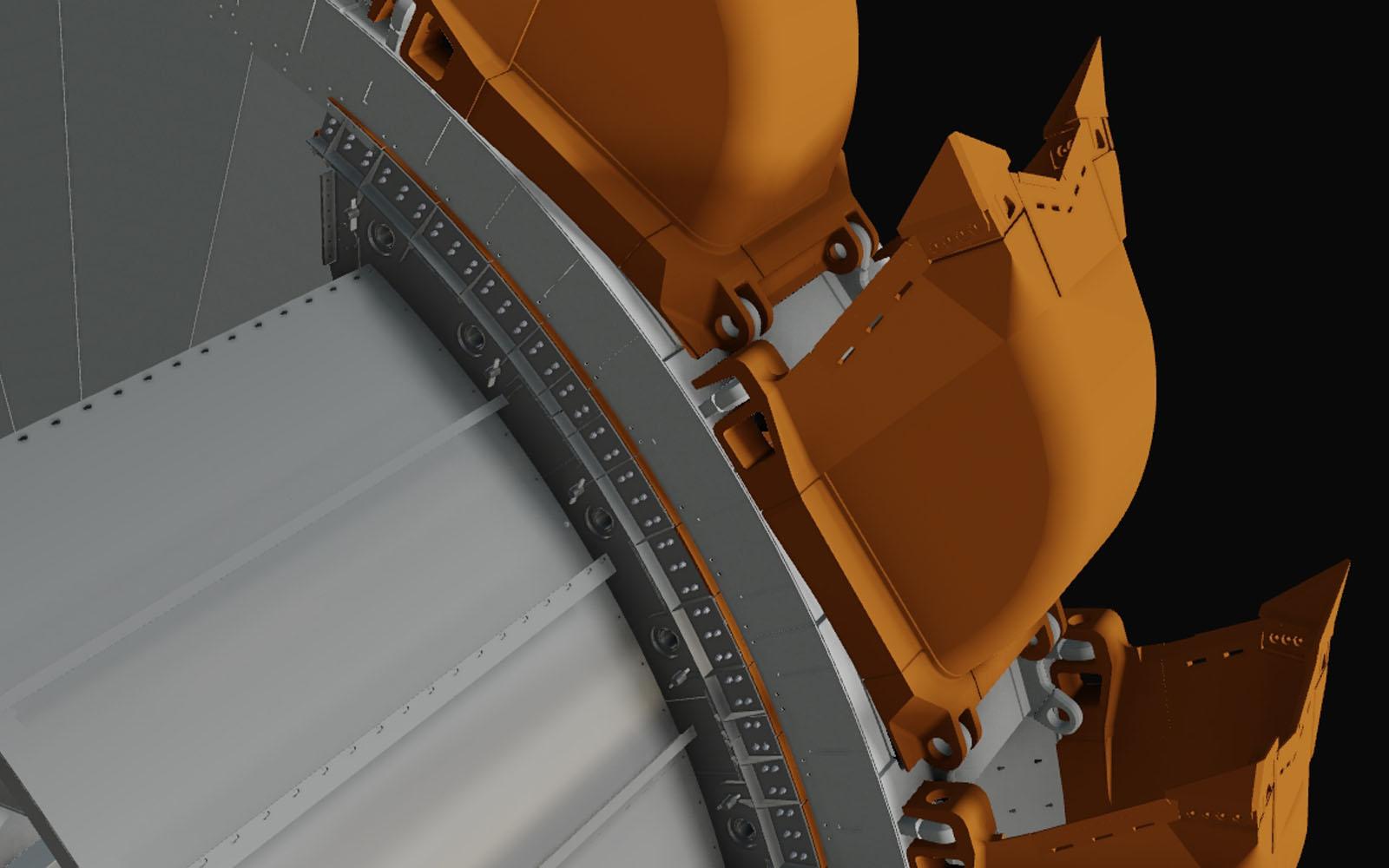 Conap CAD Konstruktionsbüro - CAD Modell einer Ringschurre