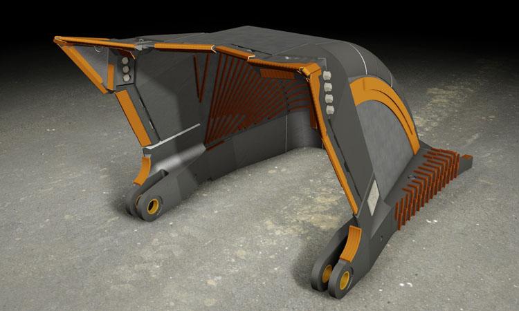Conap 3D CAD Services - Gerendertes CAD Modell einer Schaufel