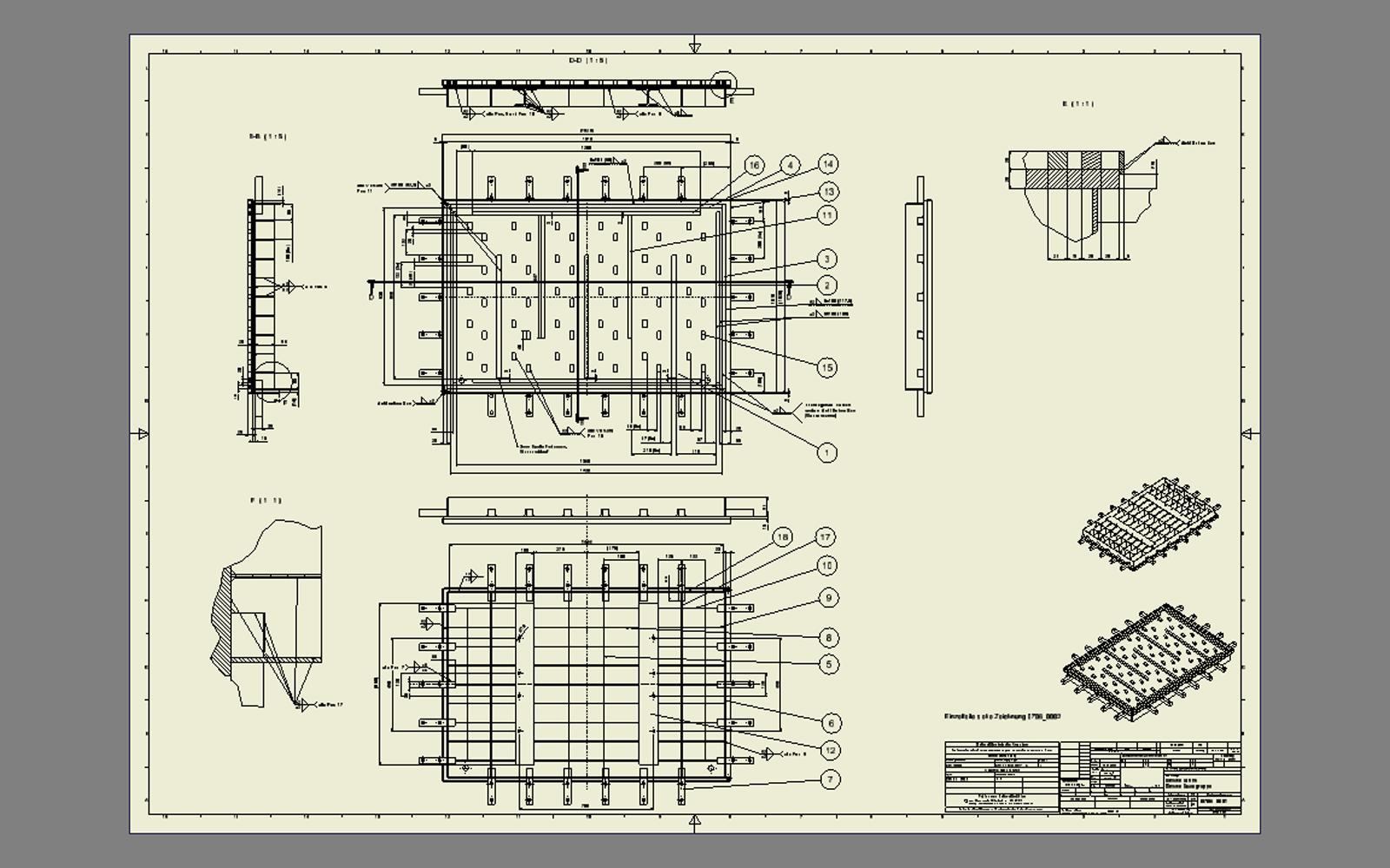 conap cad konstruktionsb ro cad modell eines. Black Bedroom Furniture Sets. Home Design Ideas