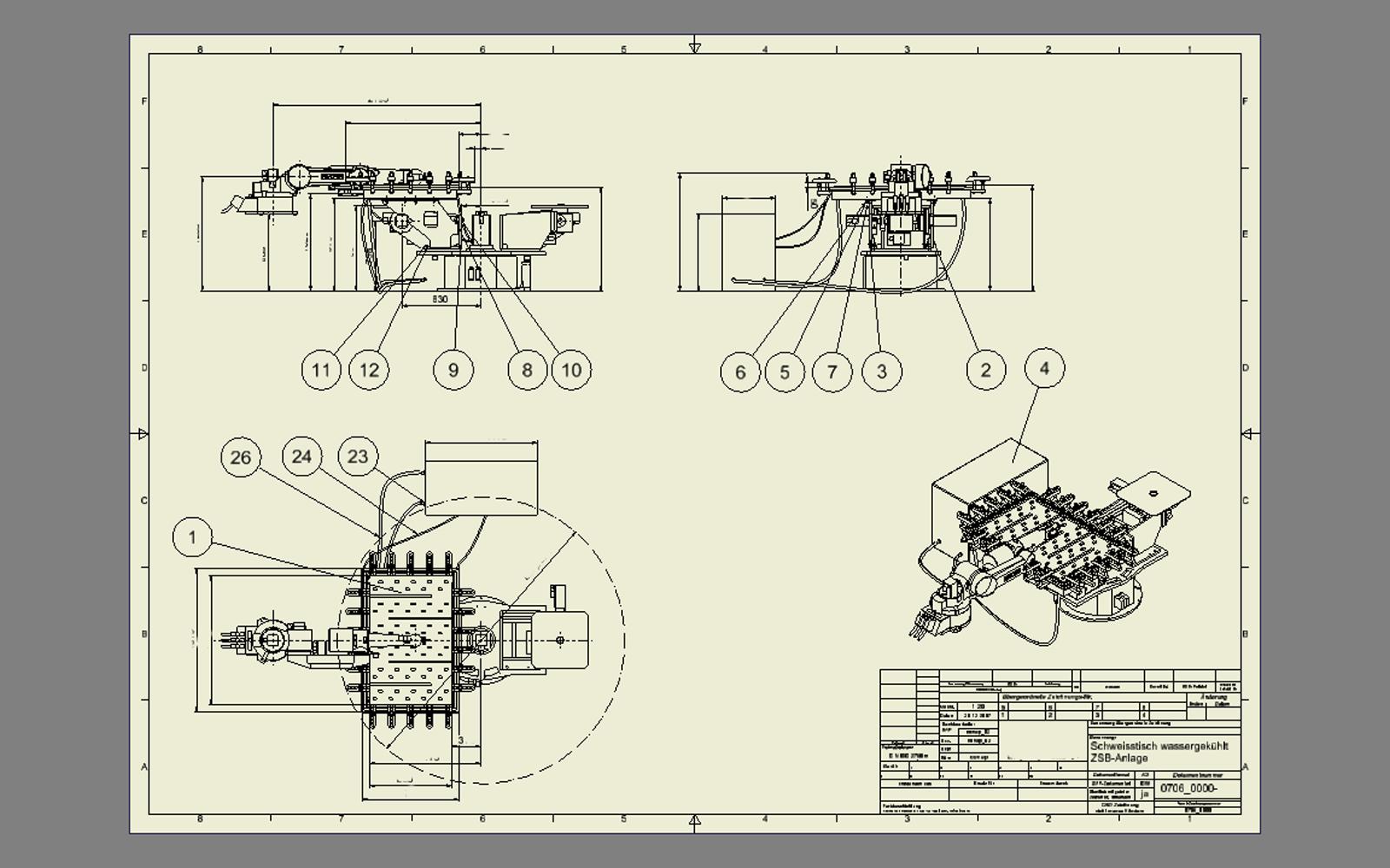 Conap CAD Konstruktionsbüro - CAD Modell eines Schweissroboters