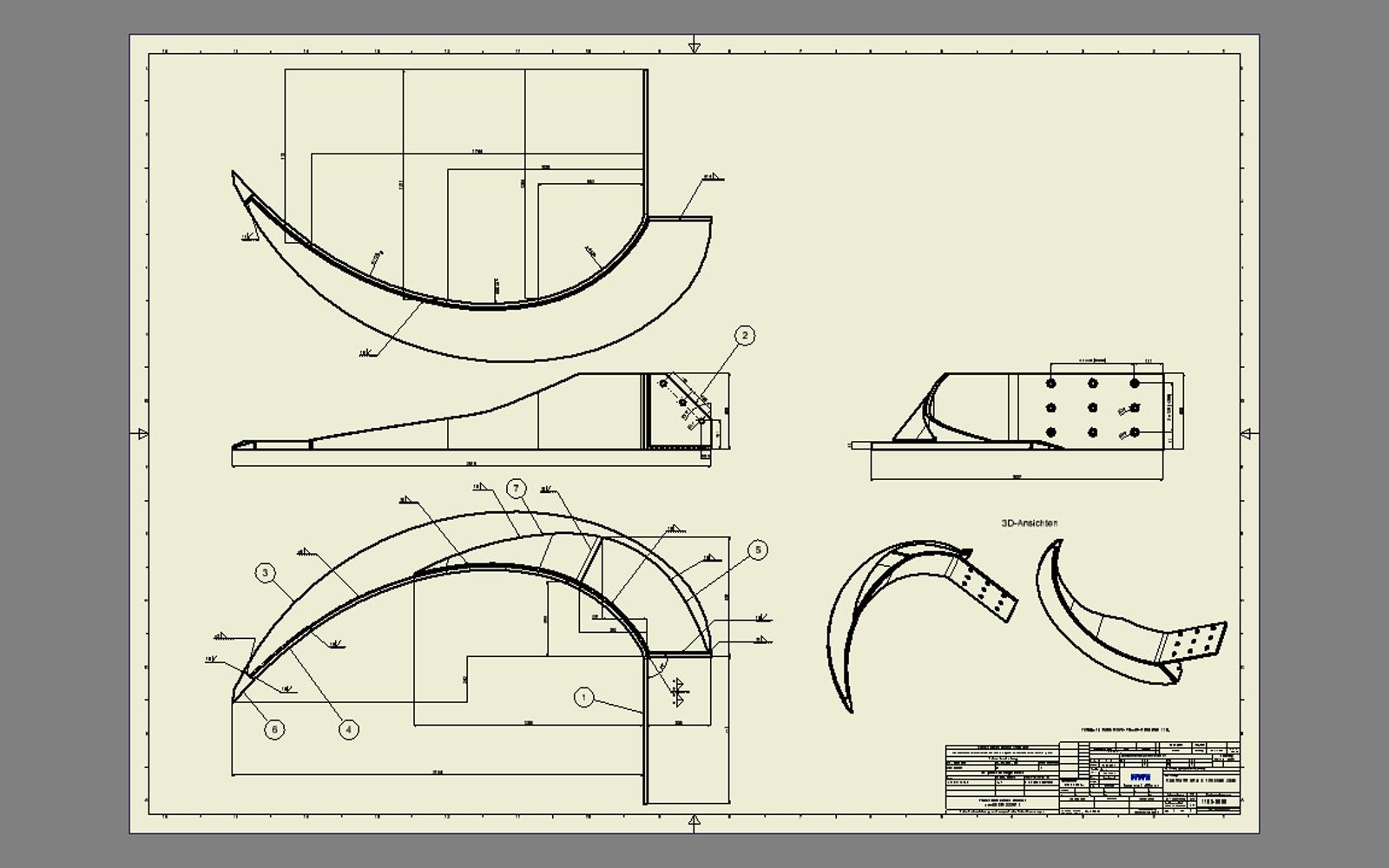 Conap 3D Reverse Engineering - Räumarm zur Vorlage