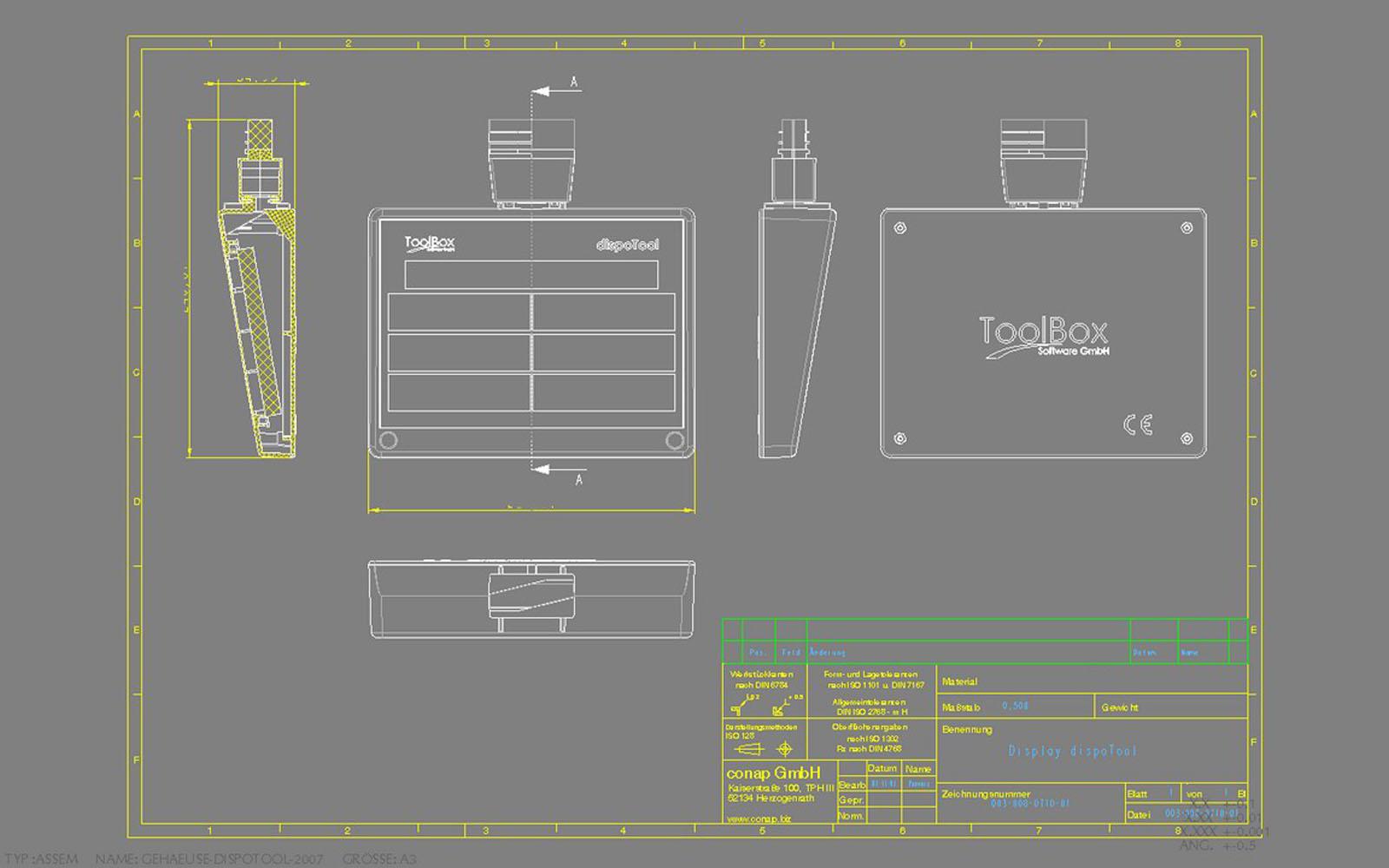 Conap CAD Konstruktionsbüro - CAD Modell einer Toolbox