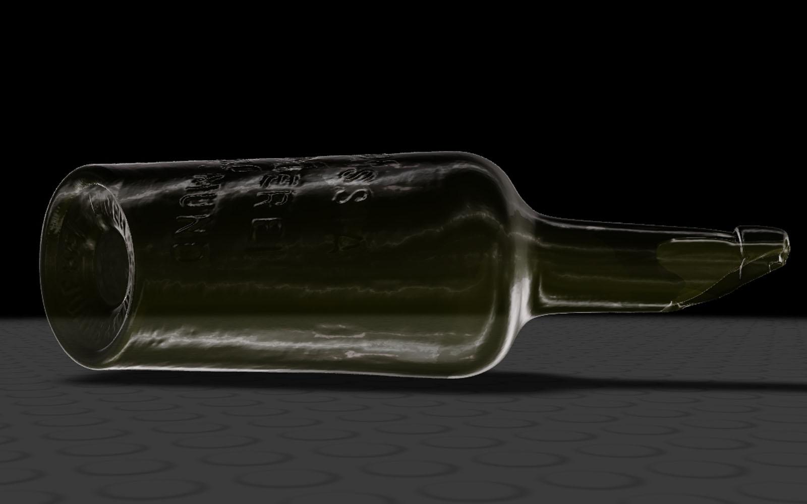 Conap 3D Reverse Engineering - Historische Bierflasche von Borussia